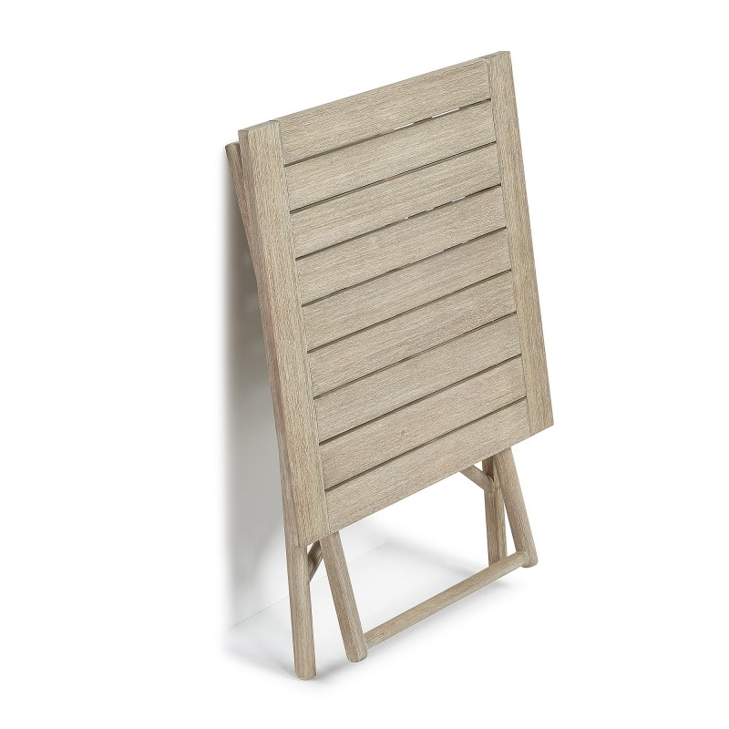 Mesa plegable picot de madera de eucalipto hogarterapia com for Mesa plegable de madera