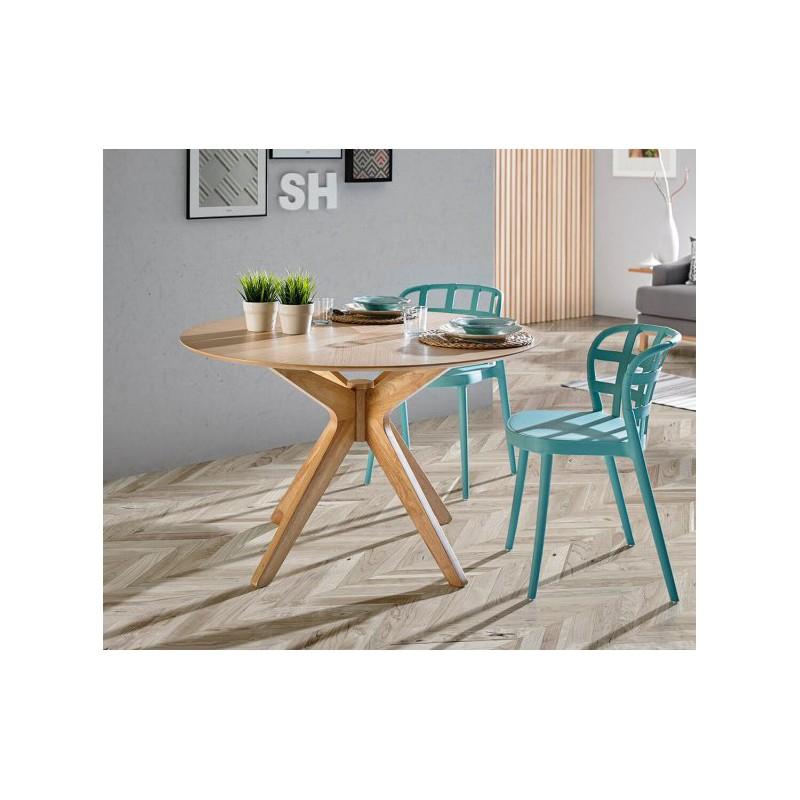 Mesa redonda carmel de 120 cm de madera hogarterapia com - Mesa de madera redonda ...