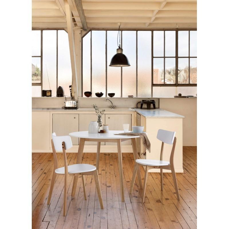 Mesa redonda monna de estilo nordico hogarterapia com for Mesa comedor estilo nordico