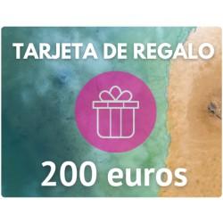 TARJETA DE REGALO DE 200 EUROS