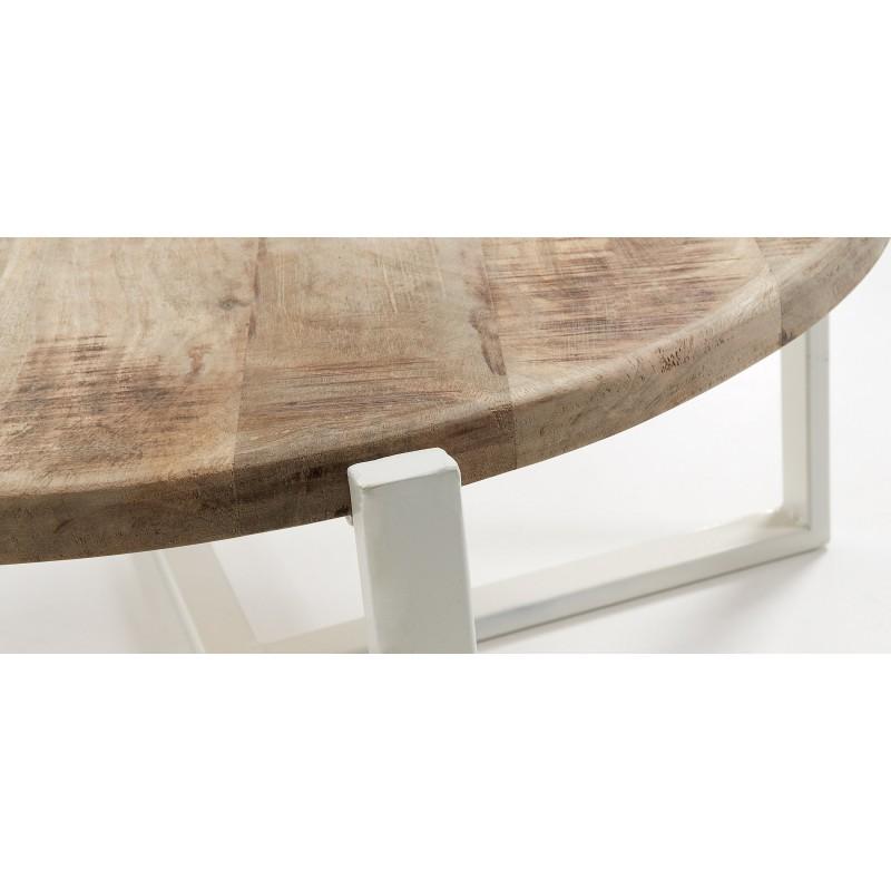 Mesa de centro iznewam de hierro y madera hogarterapia com for Mesa centro madera