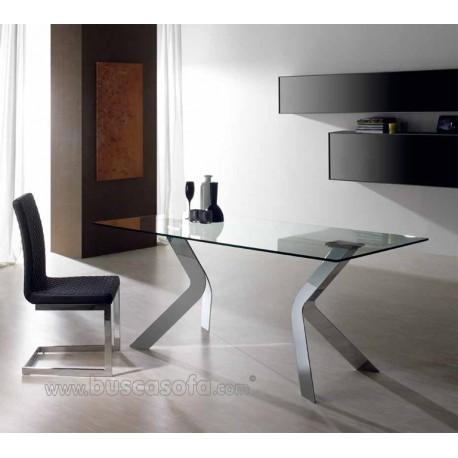Mesa comedor virginia tienda de muebles online for Comedor de cristal