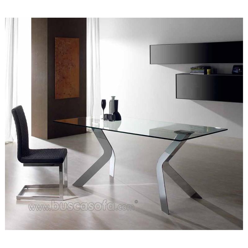 Mesa comedor virginia tienda de muebles online - Mesa cristal templado ...