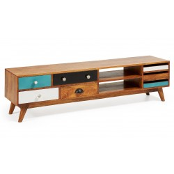 MUEBLE TV COLLIN DE MADERA MULTICOLOR