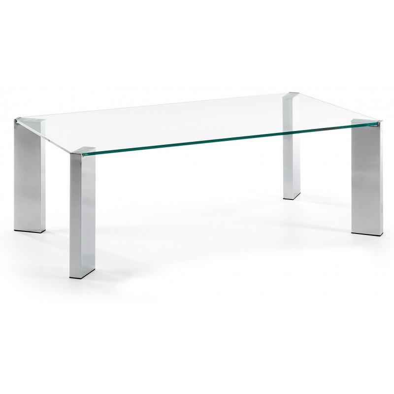 Mesa de centro cristal templado corner tienda de muebles - Mesas cristal templado ...