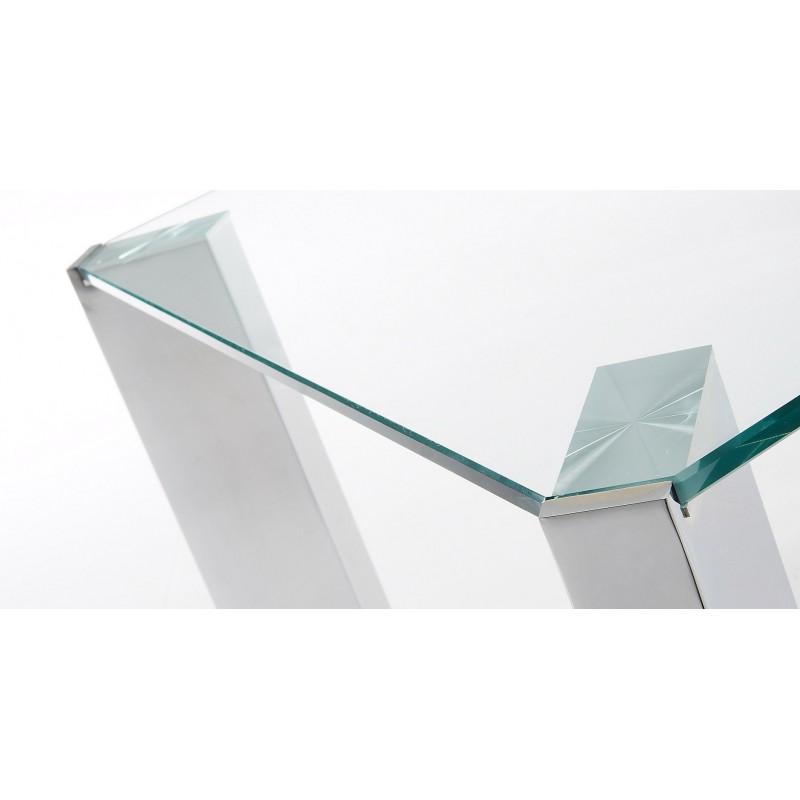 Mesa de centro cristal templado corner tienda de muebles for Mesa cristal templado ikea