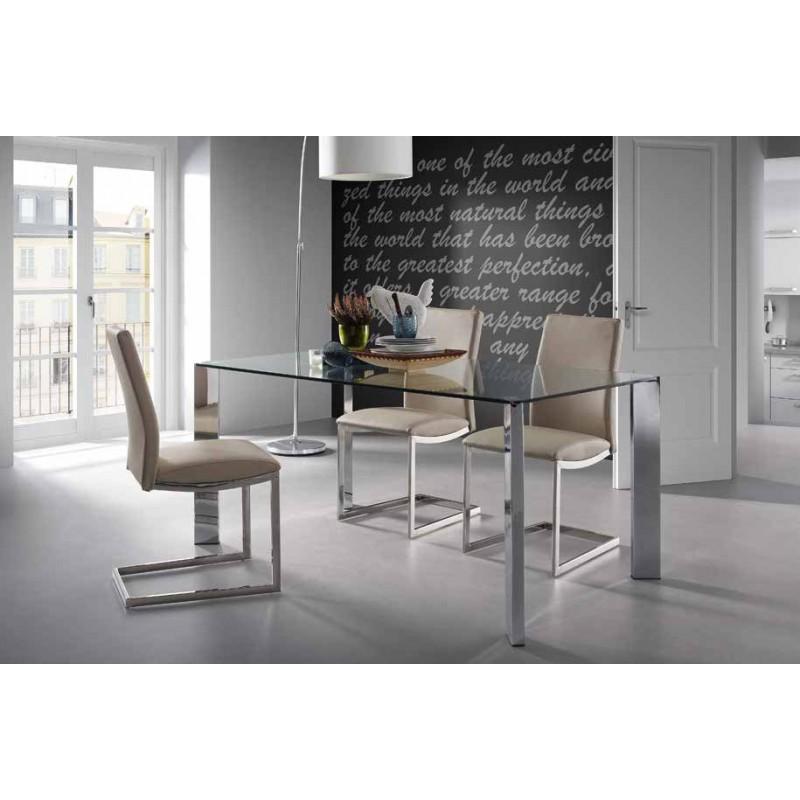 Mesa de comedor cristal templado corner tienda de - Mesas de comedor online ...