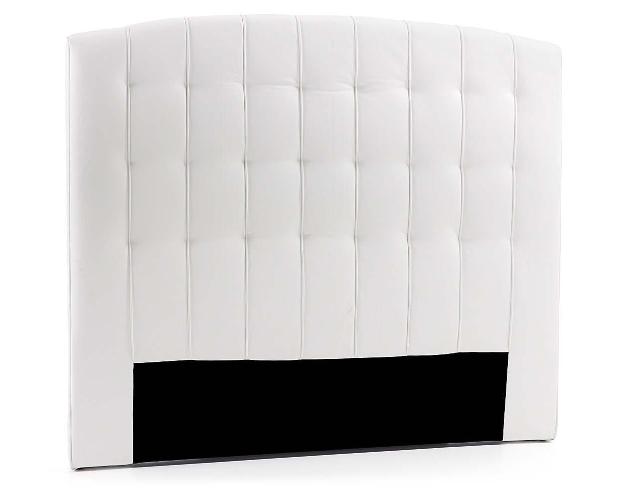 En piel sintética blanca para cama de 160 cm.
