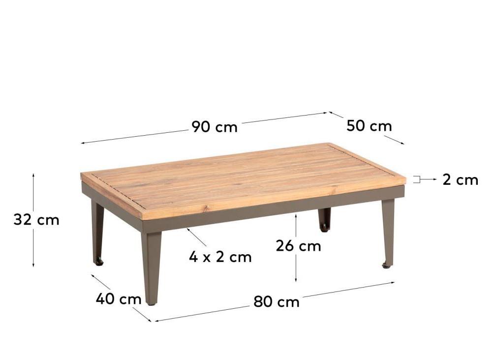 90 x 50 cm.